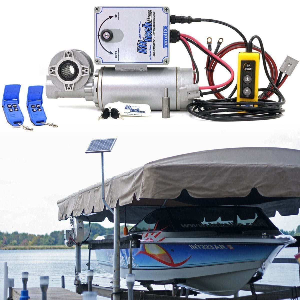 12v Boat Lift Motor 10w 12v Solar Charging System