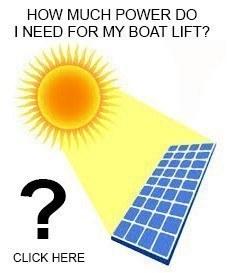 Boat Lift Solar Sizing Chart