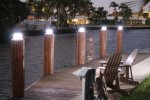 Solar Piling Light (Black) - 3 Color LED Switchable