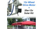 12v Wheel Drive Boat Lift Motor + 20w-12v Boat Lift Charging Kit