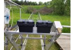 DUAL Boat Lift Battery Tray - Cantilever Arm