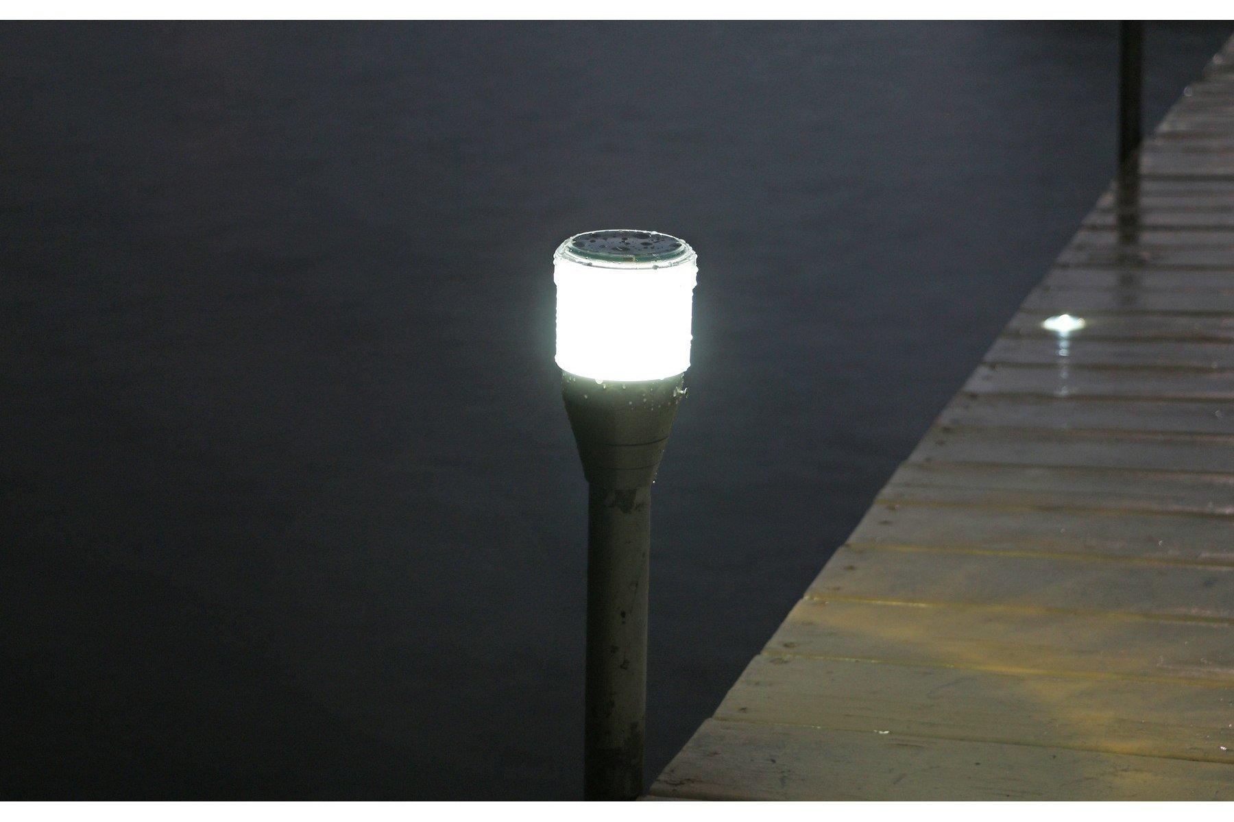 Solar dock post lites 2pk solar dock post lights mozeypictures Choice Image