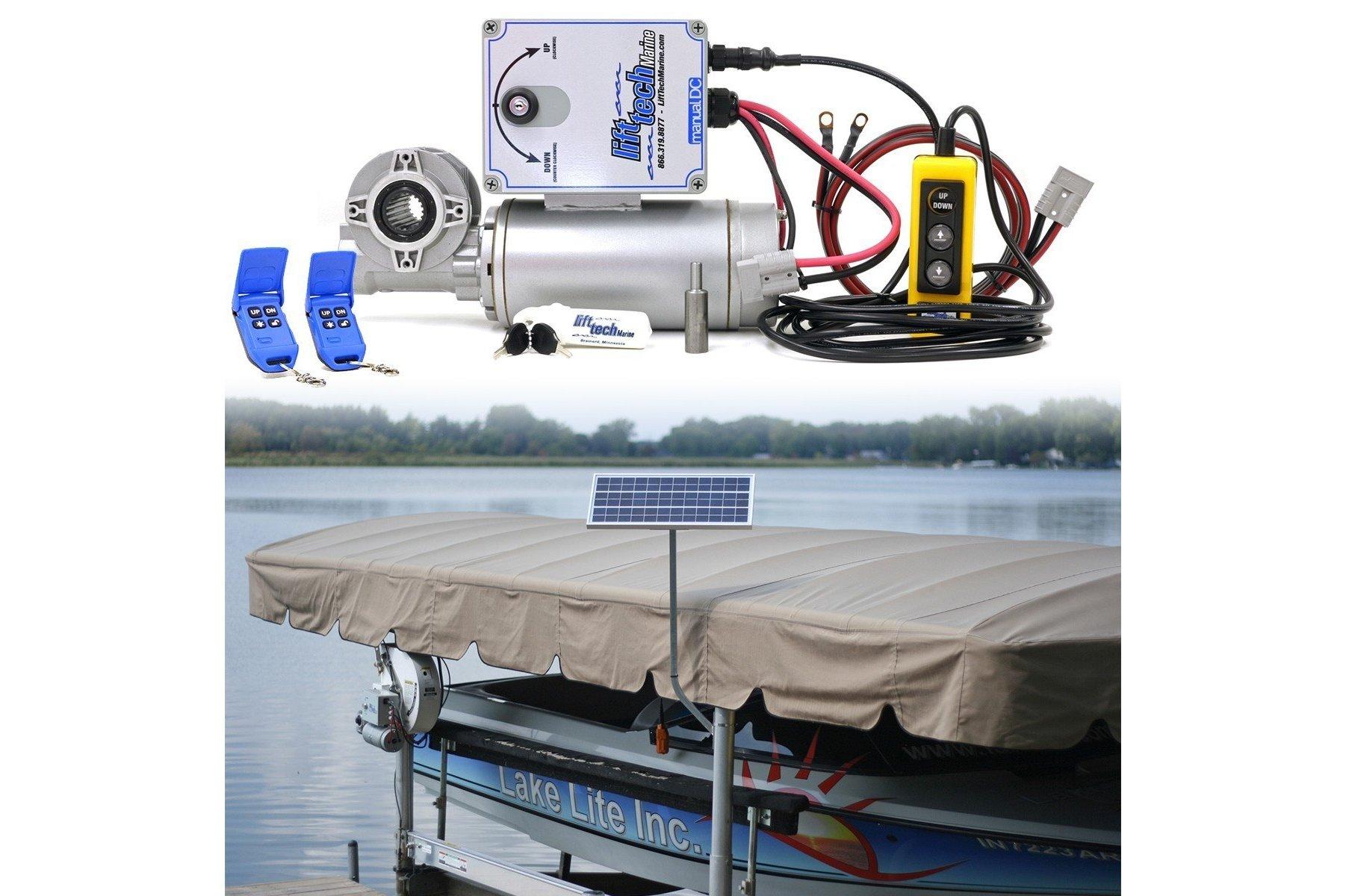 12v Direct Drive Boat Lift Motor + 20w-12v Boat Lift Charging Kit