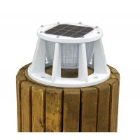 Solar Piling Light (White) - 3 Color LED Switchable