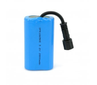 LiFePO4 Solar Rechargeable Battery Pack 2800mA
