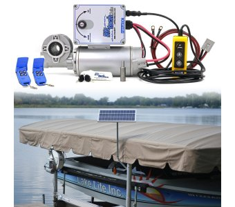 12v Direct Drive Boat Lift Motor + 20w-12v Boat Lift Charging Kit