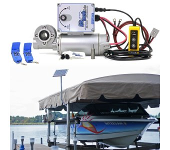 12v Direct Drive Boat Lift Motor + 10w-12v Boat Lift Charging Kit