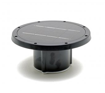 Solar Piling Light Replacement Top (Black) - 3 Color LED Switchable