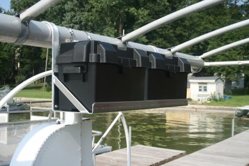 Dual Hanging Boat Lift Battery Tray - Rounded Arms