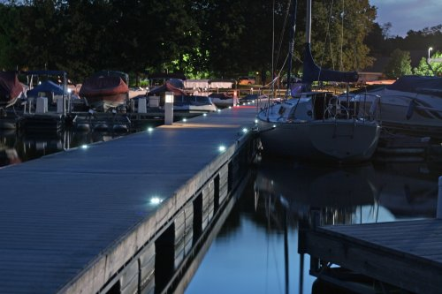 Solar Deck Lights at distance