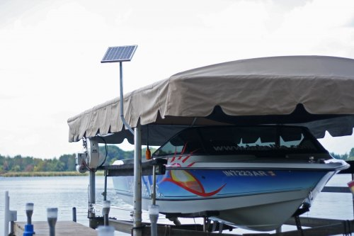 10w-12v Boat Lift Solar Charging Kit