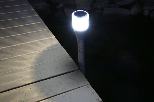 2pk Solar Dock Post Lights