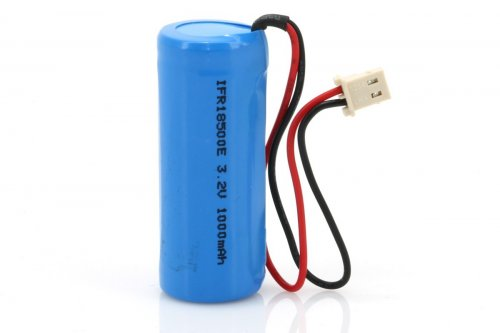 LiFePO4 Solar Rechargeable Battery 1000mA - V1