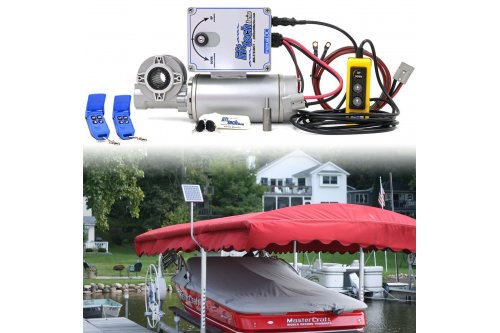 12v Direct Drive Boat Lift Motor + 15w-12v Boat Lift Charging Kit