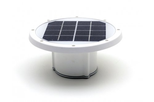 Solar Piling Light + Solar Buoy Replacement Top (White) - 3 Color LED Switchable