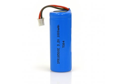 LiFePO4 Solar Rechargeable Battery 1000mA - AL Post Caps