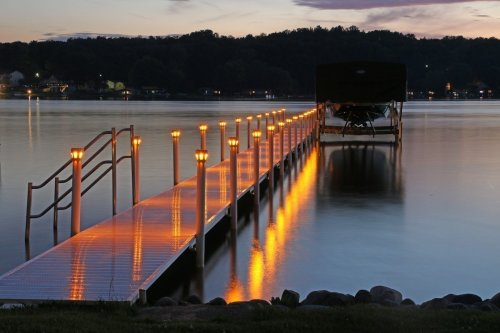 Solar Underglow Lights for Brock Docks - Tan