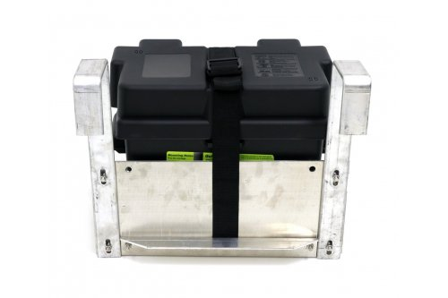 Single Hanging Boat Lift Battery Tray - Square Arms