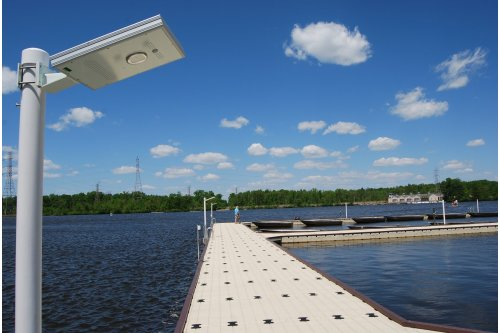 Solar Sky Dock Light with Motion Sensor - NEW